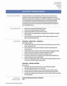 machinist resume example resume ideas With machinist resume builder