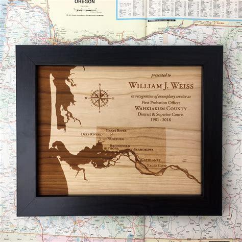 recognition service award plaque city map  municipal
