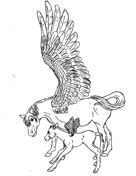 pegasus   son coloring pics coloring pages