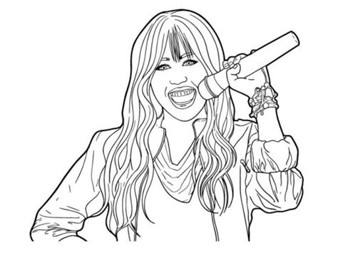 Hannah Montana Online Coloring Pages
