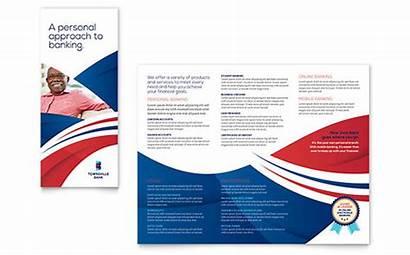 Brochure Template Templates Fold Tri Sample Bank
