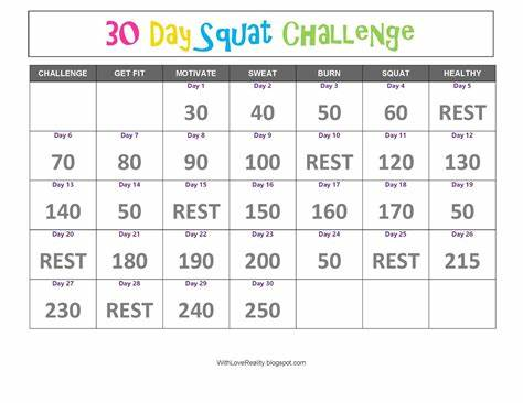 Schedule Squatting In March With Loves Reality: 30 Day Spooning Challenge