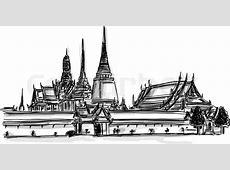 Vector World Wahrzeichen Sammlung Grand Palace Wat