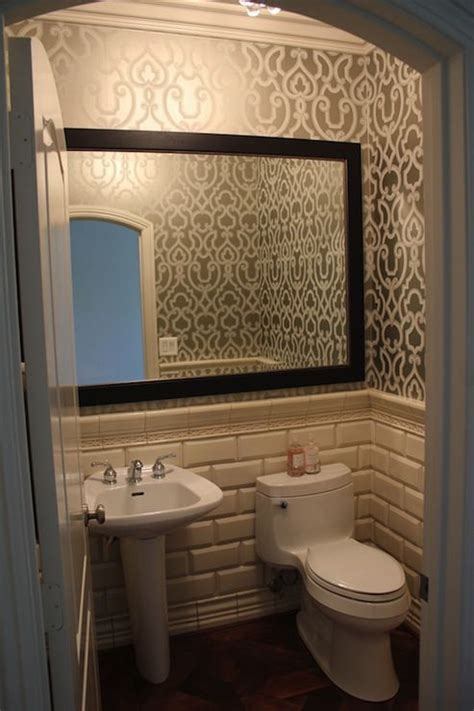 combo of tile wallpaper and adding a frame to existing
