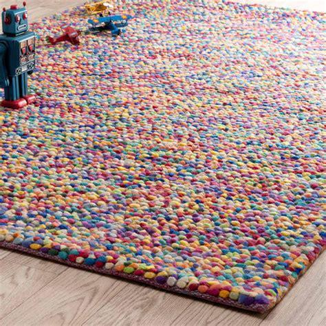tapis en multicolore 140 x 200 cm rainbow maisons