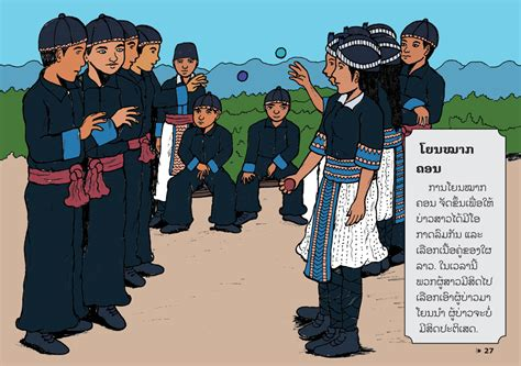Sample pages from the book Hmong Life