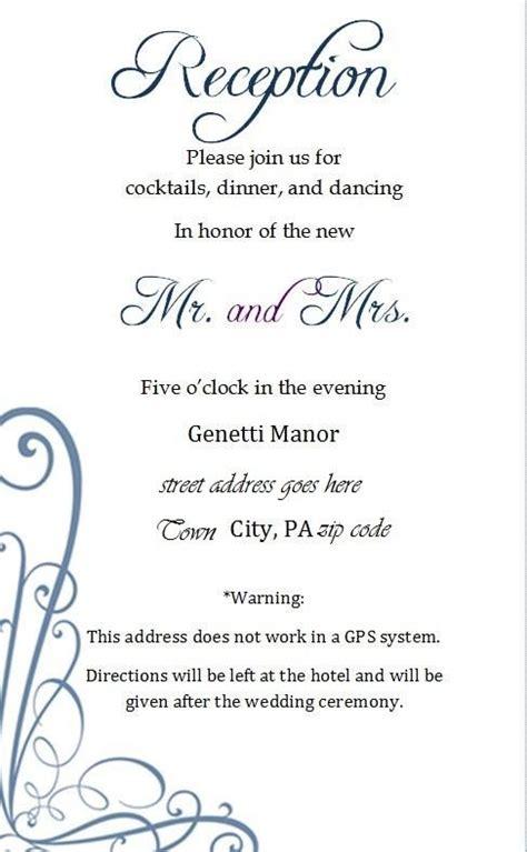 insert cards wedding accommodations blue diy insert