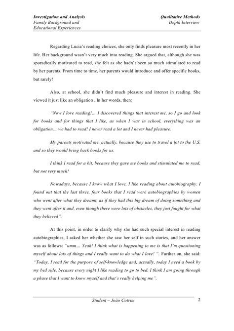 interview essay introduction