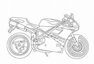 desenho de moto linda para colorir tudodesenhos With honda 150 dirt bike