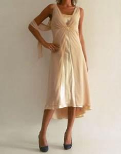 Robe Mi Longue Mariage : robe beige pour mariage ~ Melissatoandfro.com Idées de Décoration
