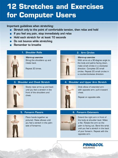 Office Ergonomics 12 Stretches And Exercises For
