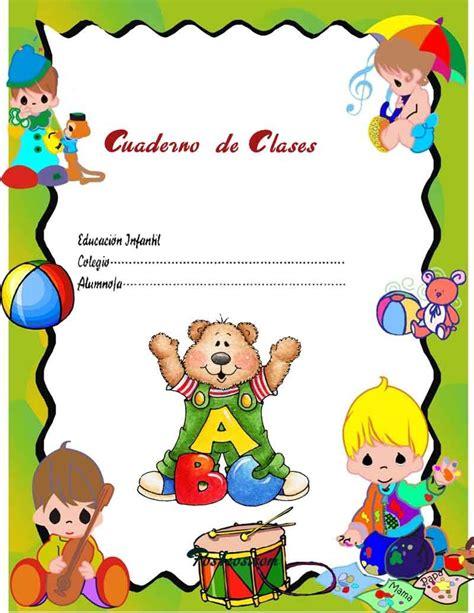 caratulas color cuadernos escolares infantiles dibujos para imprimir 32 jpg 800 215 1036