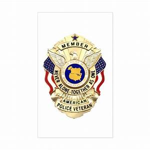 police veterans badge rectangle decal by xcopshop With kitchen colors with white cabinets with sheriff badge stickers