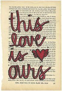 This Love is Ours original illustration Taylor Swift lyrics | Lyrics Ring Through My Ears ...