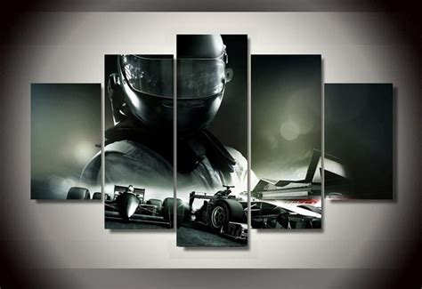 printed  racing car  piece picture painting wall art