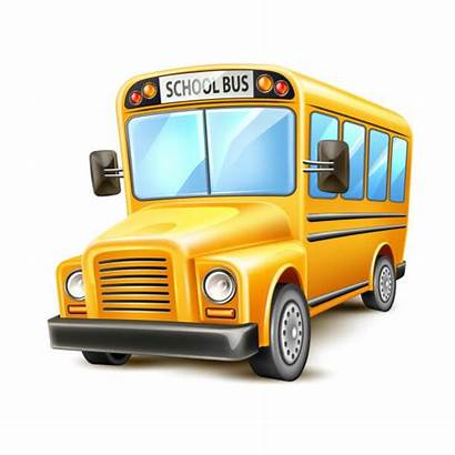 Bus Yellow Funny Realistic Illustrations Clip Vehicle