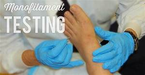 Diabetic Wound Care  Monofilament Testing - Wcei