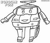 Poli Robocar Coloring Pages Robocarpoli Cartoon sketch template