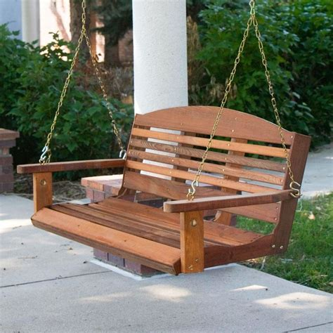classic  ft porch swing  red cedar wood amish