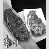 Skeleton Hand Grenade Tattoo | 736 x 845 jpeg 106kB