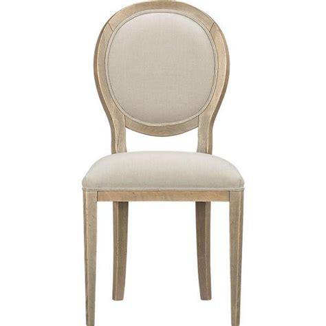 sonata pinot grigio oval side chair crate and barrel