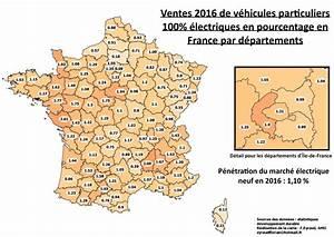 Nombre De Voiture En France : les immatriculations de voitures lectriques par d partement en france en 2016 ~ Maxctalentgroup.com Avis de Voitures