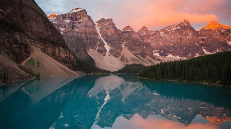 sunrise  moraine lake  wallpapers hd wallpapers id