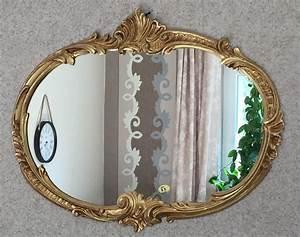 Spiegel Antik Oval : wandspiegel barock oval antik gold 52x42 badspiegel vintage ovaler spiegel kaufen bei pintici ~ Markanthonyermac.com Haus und Dekorationen