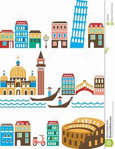 Italian landmarks stock vector. Illustration of canal ...
