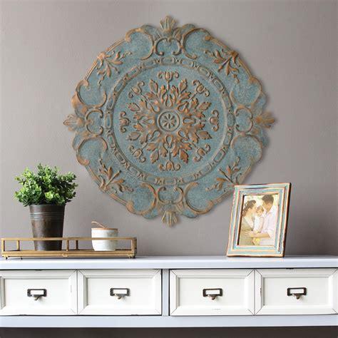 home wall decor stratton home decor blue european medallion wall decor