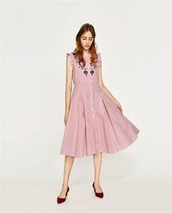 Zara vestido camisero rayas flores