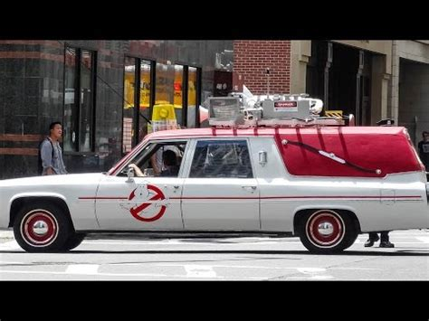 What Is The Ghostbusters Car by New Ecto 1 Driving Around Boston Filming Ghostbusters
