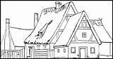 Coloring Houses sketch template