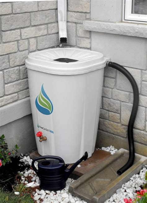 rain water barrel drum plastic collection storage garden
