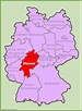 Hesse location on the Germany map