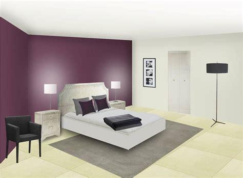 chambre grise et prune décoration chambre prune