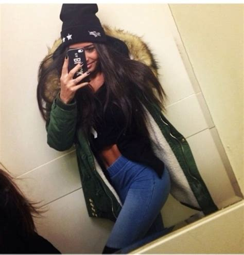 Jacket winter outfits winter coat oversized warm pants hat jeans leggings high waisted ...