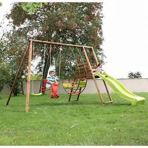 Aire De Jeux Soulet : soulet aire de jeux en bois hellebore l 3 45 m p 3 65 m ~ Melissatoandfro.com Idées de Décoration