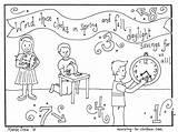 Coloring Daylight Savings Saving Children Printable Change Clocks March Ministry Sheets Pdf Colouring God Sheet Worship Bible Spring Craft Christian sketch template