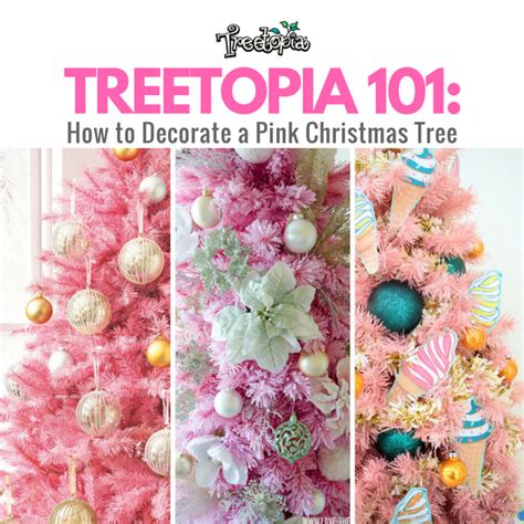 how to decorate a pink christmas tree with treetopia