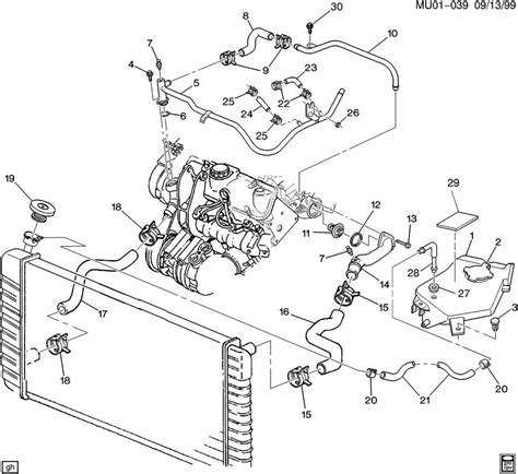 2002 Pontiac 3 4 Engine Cooling Diagram by Chevrolet Venture Pipe Engine Coolant By Pass Pipe