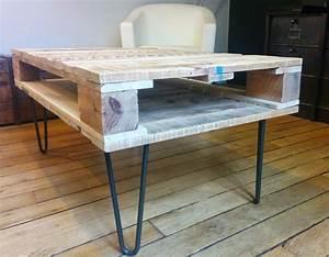 Pied Metal Table Basse : pied de table basse metal ~ Dailycaller-alerts.com Idées de Décoration
