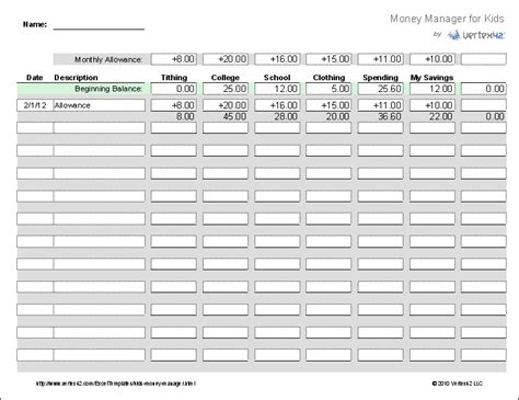 7 best images of printable basic money management