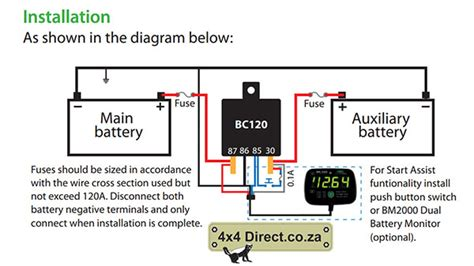 Back Up Alarm Wiring Diagram Freightliner M2 by Hbc Dual Battery Monitor