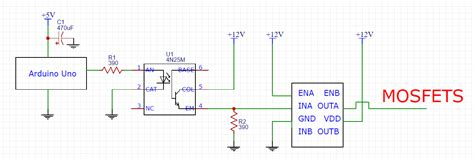 Arduino Edn Mosfet Driver Burns Out When Connected