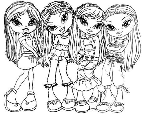 Kleurplaten Voor Meisjes 11 Jaar by Kleuren Nu Bratz Meisjes Groep 3 Kleurplaten