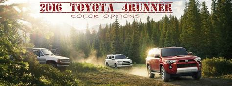 toyota runner color options