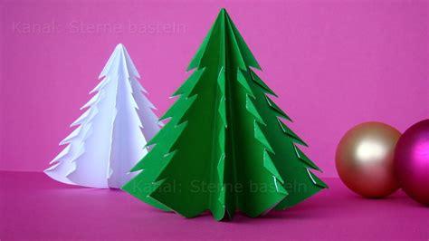 weihnachten basteln tannenbaum basteln mit papier weihnachtsdeko ideen selber machen diy