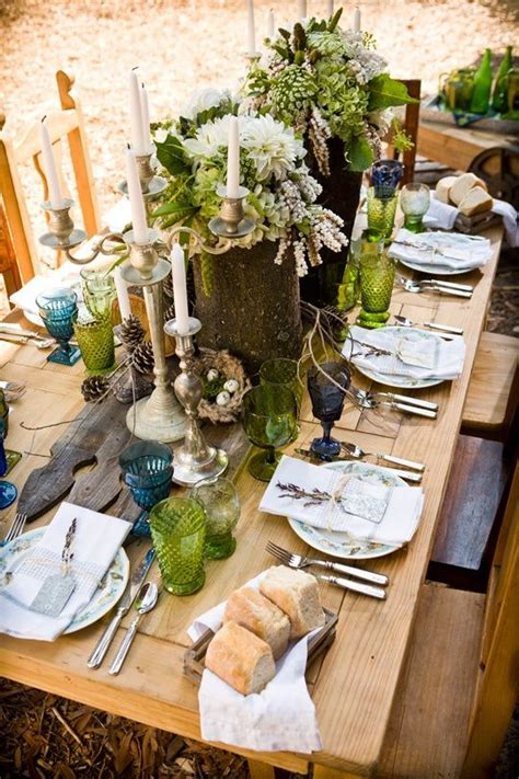 Woodland Theme Table Scape Beautiful Table Settings