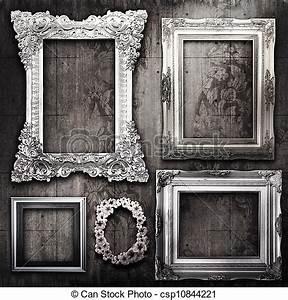 Zimmertür Mit Rahmen : stock foto von zimmer tapete grungy viktorianische rahmen silber a csp10844221 ~ Sanjose-hotels-ca.com Haus und Dekorationen